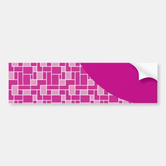 マゼンタのピンクの紫色は波パターンギフトをタイルを張ります バンパーステッカー
