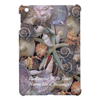 マゼンタの海の宝石の貝殻の宝物 iPad MINIケース