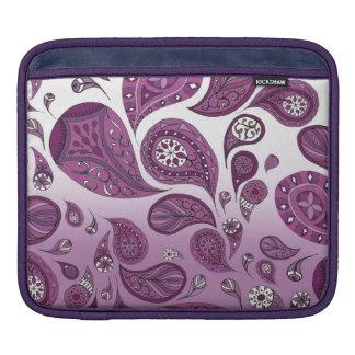 マゼンタの涙のグラデーションなiPadの袖 iPadスリーブ