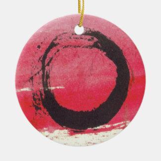 マゼンタの禅の円のオーナメント 陶器製丸型オーナメント