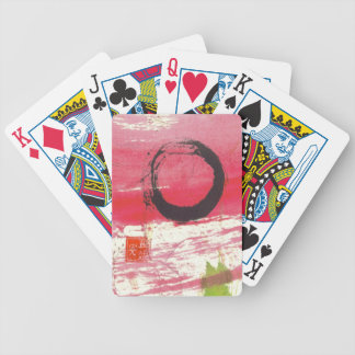マゼンタの禅の円カード バイスクルトランプ