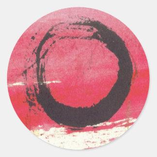 マゼンタの禅の円 ラウンドシール