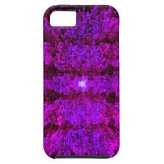 マゼンタの紫色のモダン粗かったパターンデザイン iPhone SE/5/5s ケース