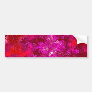 マゼンタの赤い及び紫色の抽象芸術 バンパーステッカー