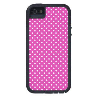 マゼンタ、白い水玉模様 iPhone 5 Case-Mate ケース