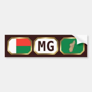 マダガスカルの旗の地図コードバンパーステッカー バンパーステッカー