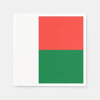 マダガスカルの旗 スタンダードカクテルナプキン