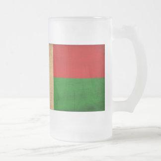 マダガスカルの旗 フロストグラスビールジョッキ