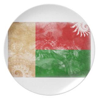 マダガスカルの旗 プレート
