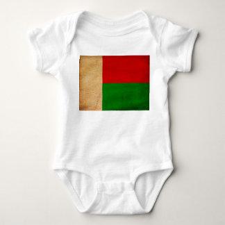 マダガスカルの旗 ベビーボディスーツ