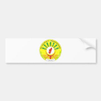 マダガスカルの紋章付き外衣 バンパーステッカー