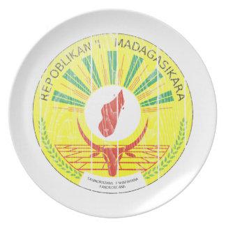 マダガスカルの紋章付き外衣 プレート