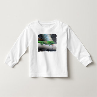 マダガスカル長袖巨大な日のヤモリの子供 トドラーTシャツ