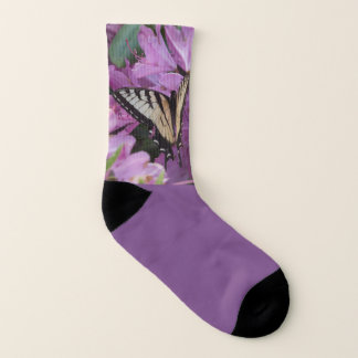 マダラチョウの紫色のソックス ソックス