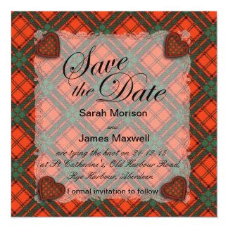 マックスウェルのスコットランドの一族のタータンチェック-格子縞 カード