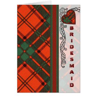 マックスウェルのスコットランド人のタータンチェック カード