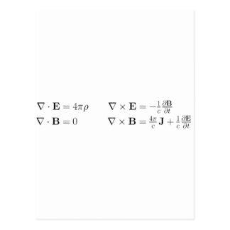 マックスウェルの同等化、差動型枠、cgs ポストカード
