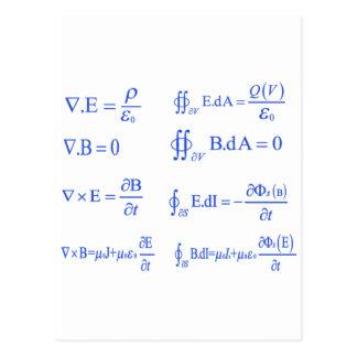 マックスウェルの物理学の同等化 ポストカード
