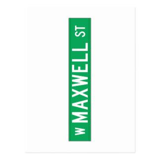マックスウェルの通り、シカゴ、ILの道路標識 ポストカード