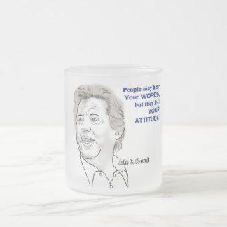 マックスウェルの風刺漫画および引用文 フロストグラスマグカップ