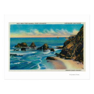 マックスウェルポイント、OceansideCoastからのアーチの石 ポストカード