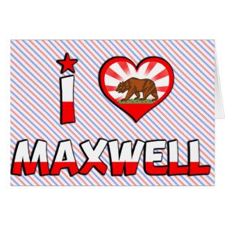 マックスウェル、カリフォルニア カード