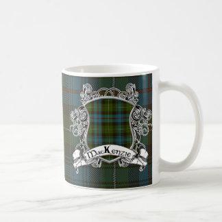 マッケンジーのタータンチェックの盾 コーヒーマグカップ