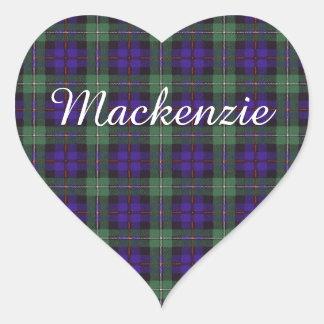 マッケンジーの一族の格子縞のスコットランド人のタータンチェック ハートシール