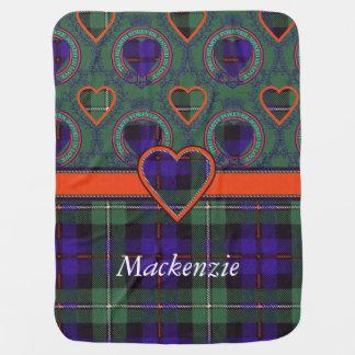 マッケンジーの一族の格子縞のスコットランド人のタータンチェック ベビー ブランケット