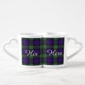 マッケンジーの一族の格子縞のスコットランド人のタータンチェック ペアカップ