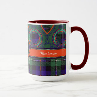 マッケンジーの一族の格子縞のスコットランド人のタータンチェック マグカップ