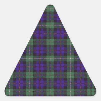 マッケンジーの一族の格子縞のスコットランド人のタータンチェック 三角形シール