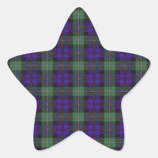 マッケンジーの一族の格子縞のスコットランド人のタータンチェック 星シール