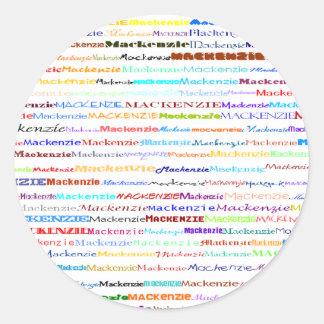 マッケンジーの文字デザインなII円形のステッカー ラウンドシール