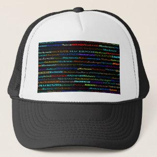 マッケンジー文字デザインなIの帽子 キャップ