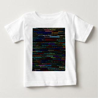 マッケンジー文字デザインなIのTシャツの乳児 ベビーTシャツ