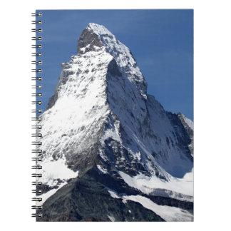 マッターホルンのアルプス ノートブック