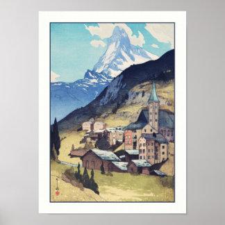 マッターホルンのZermattスイス連邦共和国のヴィンテージの芸術のプリント ポスター