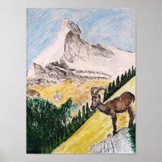 マッターホルンを見ること上のIbex ポスター
