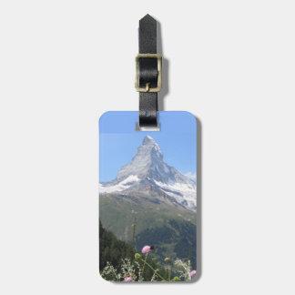 マッターホルン山の写真 バッグタグ