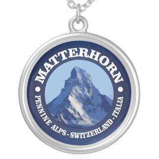 マッターホルン(rd) シルバープレートネックレス