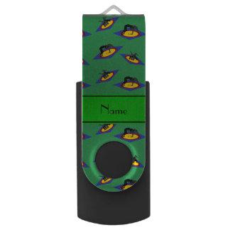 マットの名前入りな一流の緑のレスリング選手 USBフラッシュドライブ