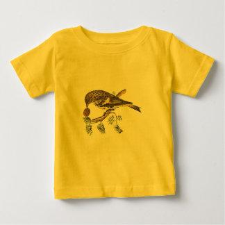 マツニキヒワ(Carduelisのpinus) ベビーTシャツ