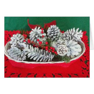 マツ円錐形のヒイラギの装飾 カード