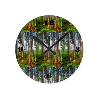 マツ媒体の時計 ラウンド壁時計