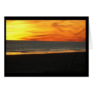 マツ小山の海岸の日没、NC カード