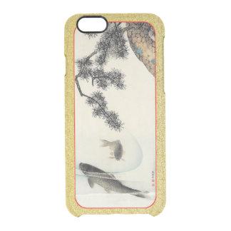 マツ枝ヴィンテージのプリントのカスタムの下のコイのコイ クリアiPhone 6/6Sケース
