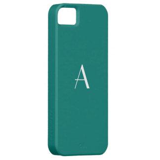 マツ緑の白いモノグラム iPhone SE/5/5s ケース