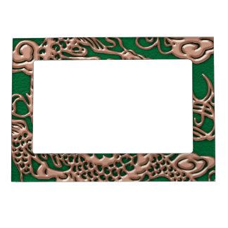 マツ緑の革質の銅のドラゴン マグネットフレーム