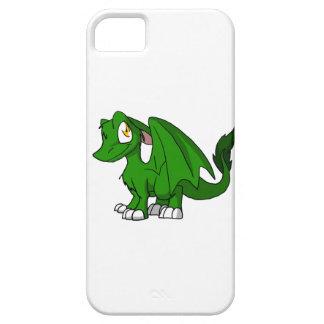 マツ緑SD毛皮で覆われたドラゴンのiPhoneの箱 iPhone SE/5/5s ケース